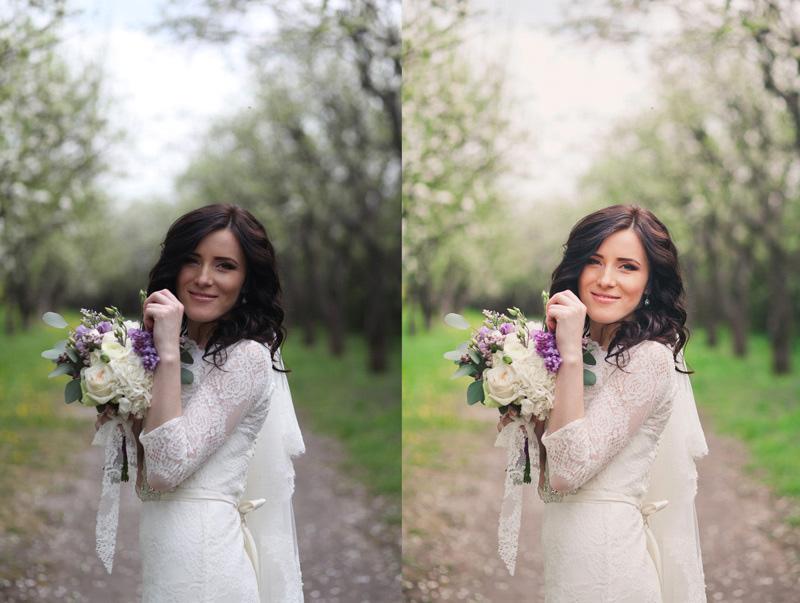 Обработка свадебных фото для начинающих